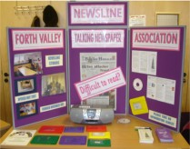 Image of display stand and leaflets